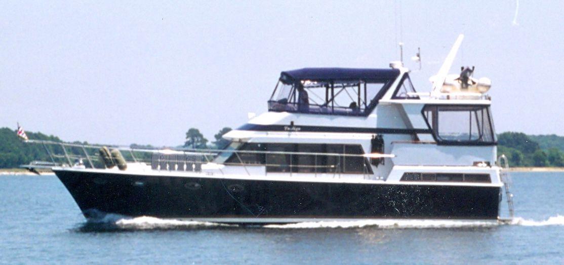 Marine Trading Tradewinds Sundeck Motoryacht - new diesels ... stabilized ... SWEET!, Annapolis