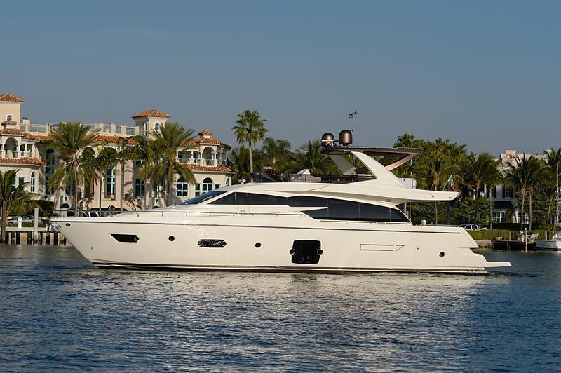 Ferretti Yachts 750, Palm Beach Int'l Boat Show