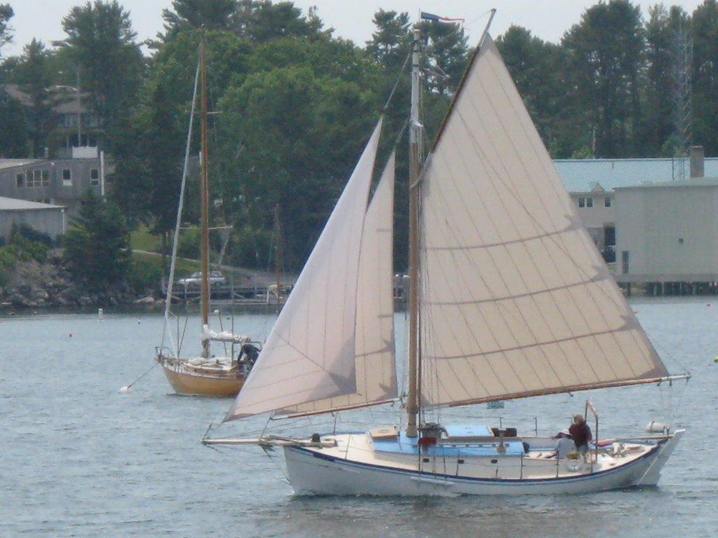 McIntosh Remick double-ended gaff-rigged Cutter, Boothbay